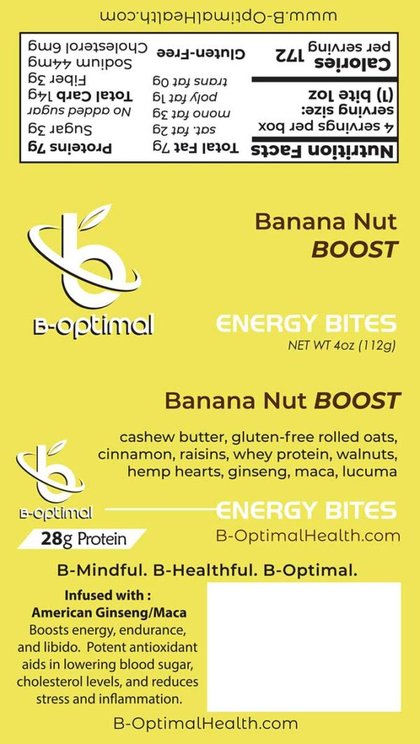Be Optimal Energy Bites Banana Nut Boost