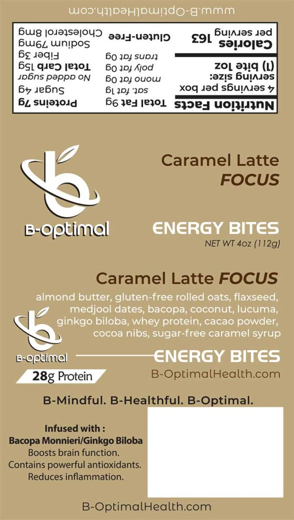 Be Optimal Energy Bites - Caramel Latte Focus