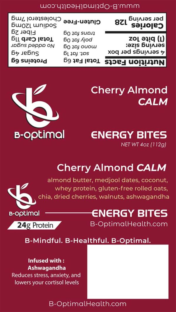 Be Optimal Energy Bites - Cherry Almond Calm