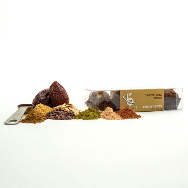 Energy Bites Product Photos_Carmel Latte Focus B-Optimal Health Energy Bites With Ingredients-5.jpg