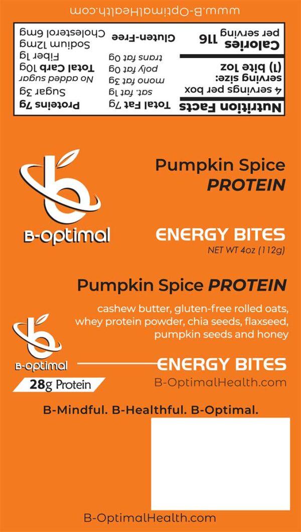 Be Optimal Energy Bites - Pumpkin Spice Protein