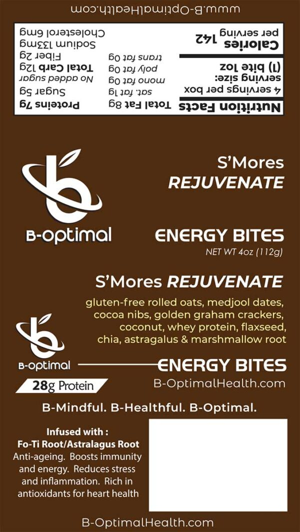 Be Optimal Energy Bites S'Mores Rejuvenate